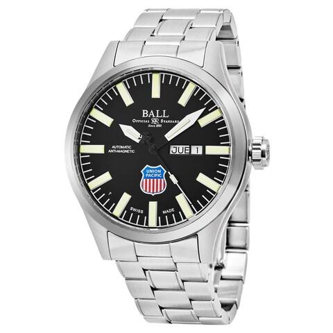 Ball Men's 'Engineer II Big Boy' Black Dial Stainless Steel Swiss Automatic Watch