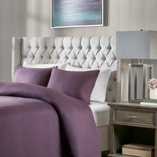 Madison Park Baldwin Grey Queen Upholstery Headboard