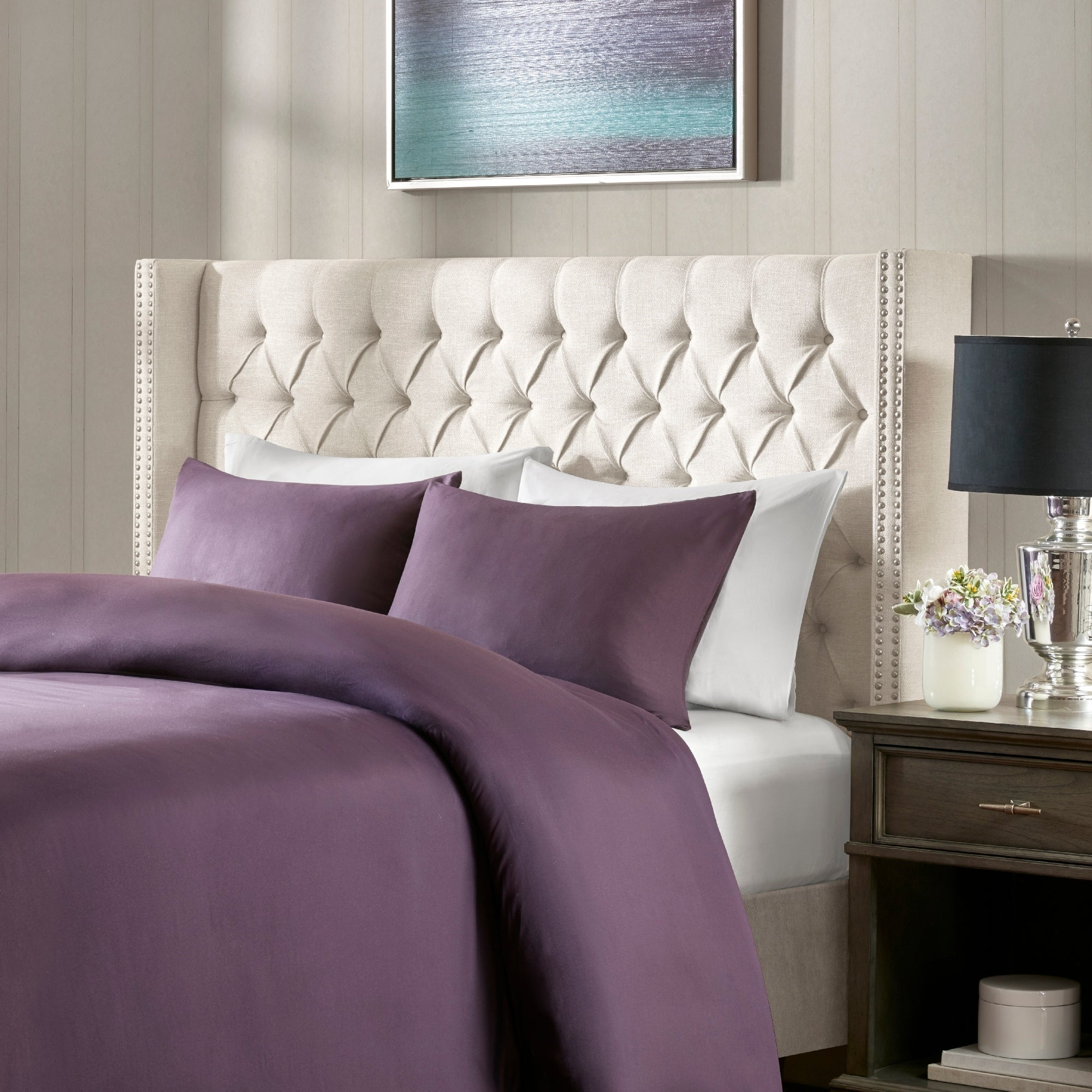 Charmant Madison Park Baldwin Upholstered Headboard