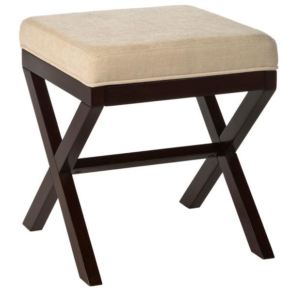 Hillsdale Furniture Morgan Wood Vanity Stool in Espresso Finish