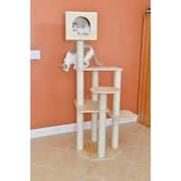 "Armarkat 69"" Scots Pine Wood Cat Tree - wood grain"