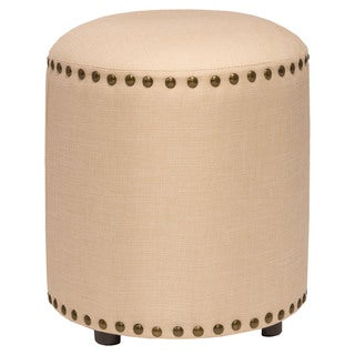 Hillsdale Furniture Laura Backless Vanity Stool in Cream Fabric