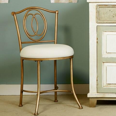 Hillsdale Furniture Emerson Vanity Stool in Golden Bronze Finish