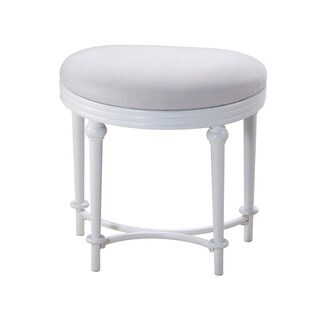 Hillsdale Furniture Cape May Vanity Stool in Matte White Finish