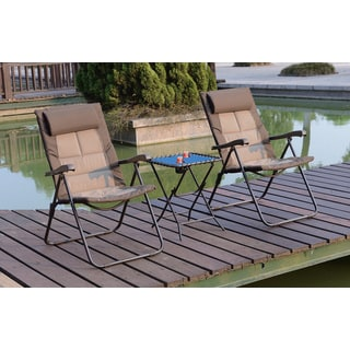 Poundex Lizkona All-weather Outdoor Adjustable Chairs (Set of 2)