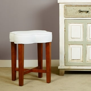 Hillsdale Furniture Clover Vanity Stool in Cherry Finish