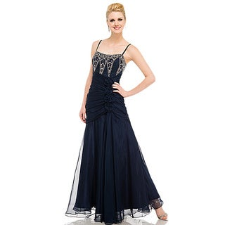 DFI Women's Art Deco Prom Gown
