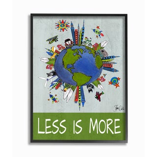 Less Is More Global Values Framed Giclee Texturized Art