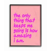 lulusimonSTUDIO The Only Thing That Keeps Me Going Framed Giclee Art