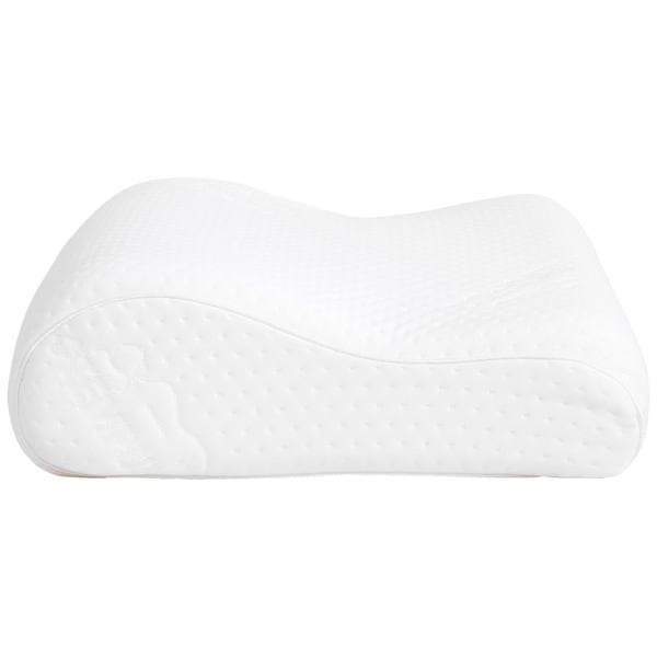 tempurneck gel memory foam contour pillow free shipping today