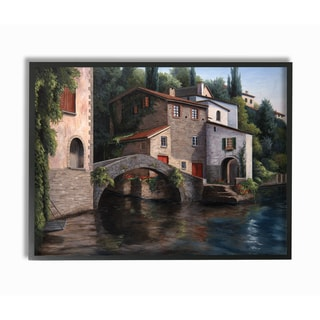 Living on the Water Framed Giclee Texturized Art