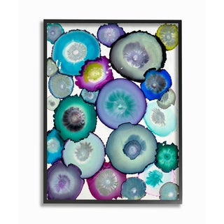 Watercolor Geodes Framed Giclee Texturized Art