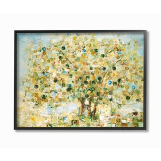 Abstract Apple Tree Framed Giclee Texturized Art