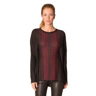 Missoni Black Red Wool Oversized Sweater