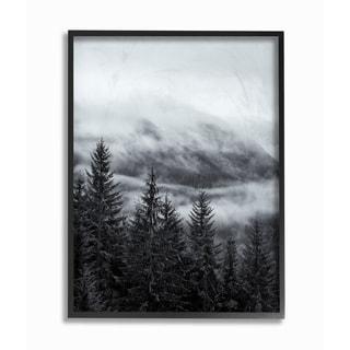 Snowy Mountain Pine Photograph Framed Giclee Texturized Art