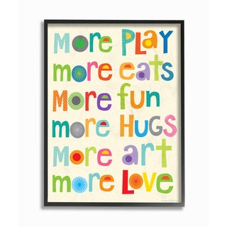 More More More Play Framed Giclee Texturized Art