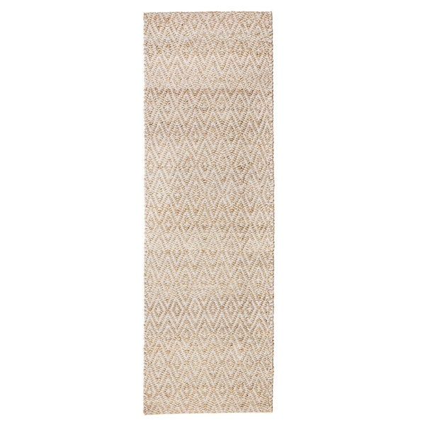 Jani Para Grey/Natural Jute and Cotton Runner Rug - 2'6 x 8'