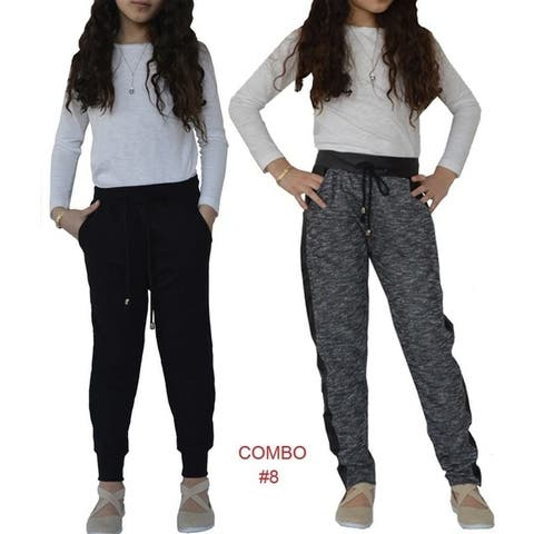 Big Girls Jogger French Terry & Quilted Pants