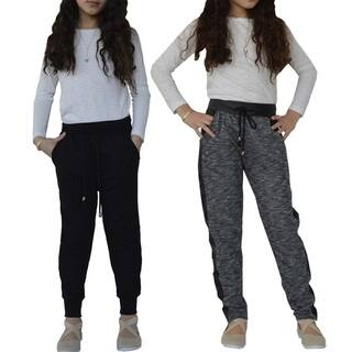 Big Girls Jogger French Terry & Quilted Pants|https://ak1.ostkcdn.com/images/products/16304973/P22669573.jpg?impolicy=medium