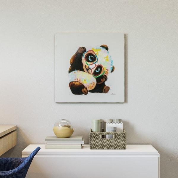 Yosemite Home Decor Smarty Panda Original Hand Painted Wall Art