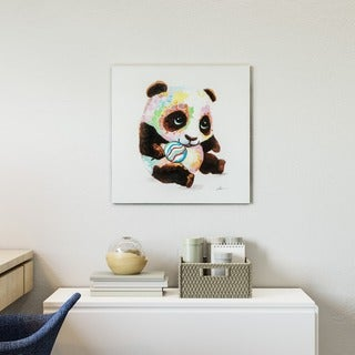 Yosemite Home Decor Panda Color Original Hand-Painted Wall Art