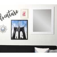 Multi Size BrandtWorks White Over Sofa Decor Wall Mirror