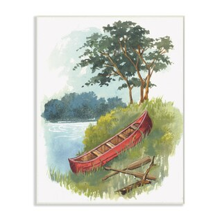 The Canoe Trip Illustration Wall Plaque Art