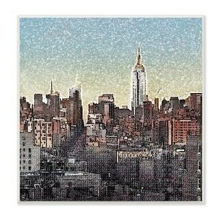 Vintage New York Textured Photograph Wall Plaque Art