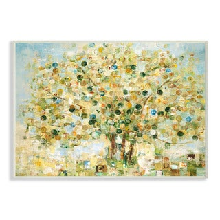 Abstract Apple Tree Wall Plaque Art