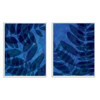 Cobalt Ferns 2pc Wall Plaque Art Set - 10 x 15