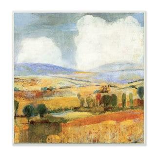 Golden Pastures Landscape Wall Plaque Art