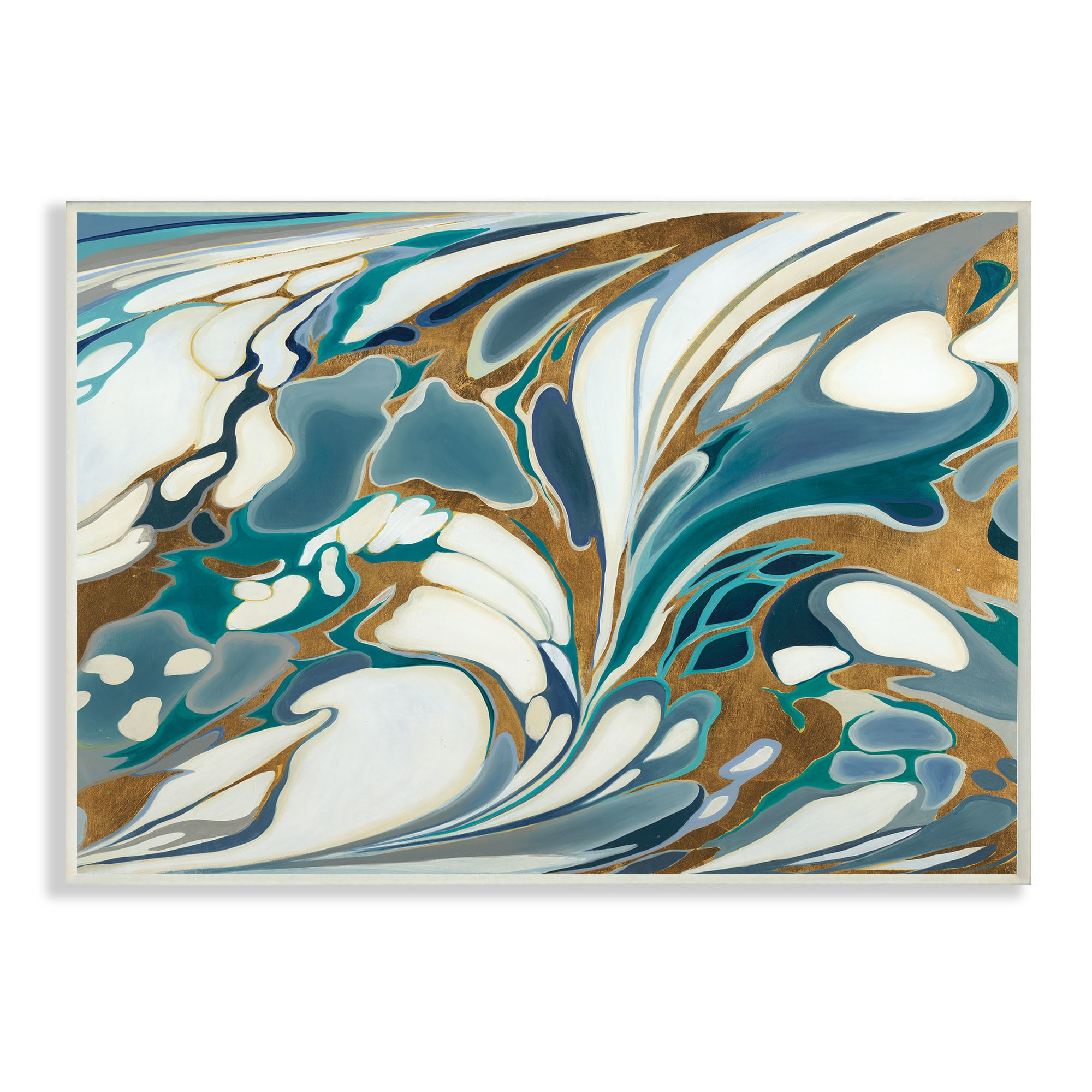 Blue And Gold Water Marble Wall Plaque Art 10 X 15 Overstock 16305128