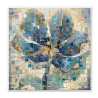 Magnolia Grid Squares Wall Plaque Art - 12 x 12