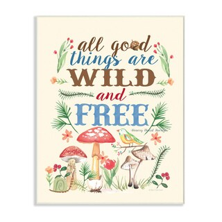 Good Things Wild and Free Wall Plaque Art