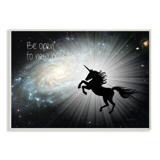 Be Open Unicorn Galaxy Wall Plaque Art