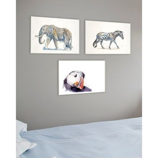 Elephant Watercolor Texture Wall Plaque Art