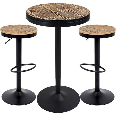 Dakota 3pc Industrial Pub/Dining Set by LumiSource