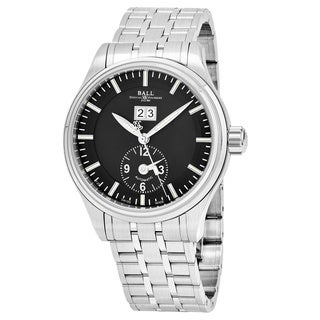 Ball Men's GM1056D-S2J-BK 'Trainmaster' Black Dial Stainless Steel Swiss Automatic Watch
