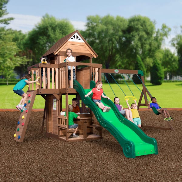 Shop Backyard Discovery Mount Triumph All Cedar Swingset