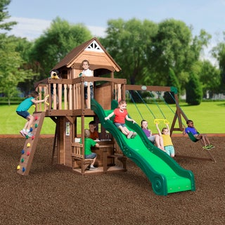 Backyard Discovery 1701014 Mount Triumph All Cedar Swing Set Play Set