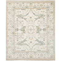 ecarpetgallery Hand-Knotted Royal Ushak Ivory Wool Rug (8'2 x 10'0)