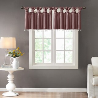 Madison Park Natalie Twisted Tab Valance With Beads (More options available)