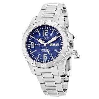 Ball Men's DM2036A-S5CA-BE 'Spacemaster Captain Poindexter' Blue Dial Stainless Steel Swiss Automatic Watch