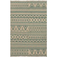 ecarpetgallery Flatweave Izmir Kilim Green Wool Kilim Rug - 5'0 x 8'0