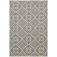 ecarpetgallery Flatweave Izmir Kilim Blue, Ivory Wool Kilim Rug - 5'2 x 7'11