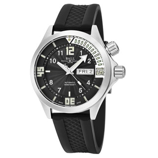 Ball Men's DM2020A-PA-BKWH 'Engineer' Black Dial Black Rubber Strap Swiss Automatic Watch