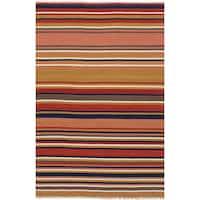 ecarpetgallery Flatweave Izmir Kilim Red Wool Kilim Rug - 5'0 x 8'0