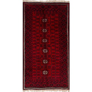 ecarpetgallery Hand-Knotted Persian Vintage Red Wool Rug (3'2 x 6'7)