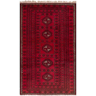 ecarpetgallery Hand-Knotted Persian Vintage Red Wool Rug (3'11 x 6'9)