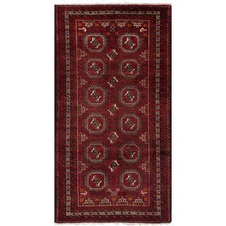 ecarpetgallery Hand-Knotted Persian Vintage Red Wool Rug (3'4 x 6'7)